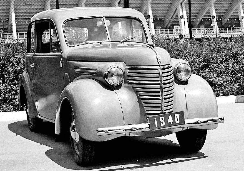История в фотографиях (1940 - 1941). Фотография первого советского автомобиля КИМ-10, 1940 год