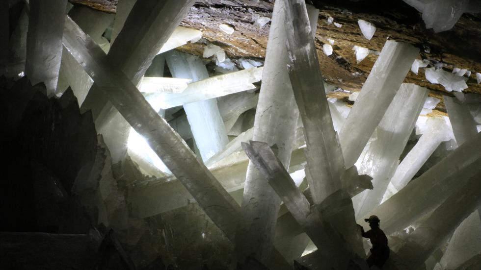 Гигантские кристаллы гипса красивые места планеты