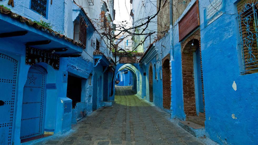 Голубые дома Самые красивые места планеты