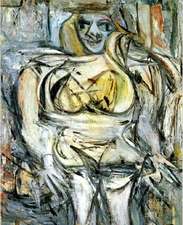 Самые дорогие картины мира. Виллема де Кунинг – Женщина III-1952