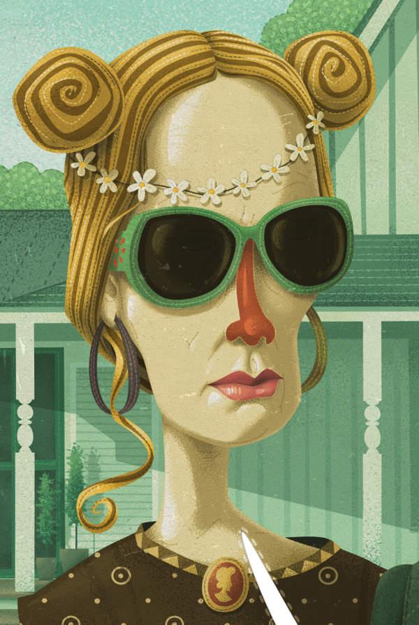Американская готика от иллюстратора Стива Симпсона (Steve Simpson) 2
