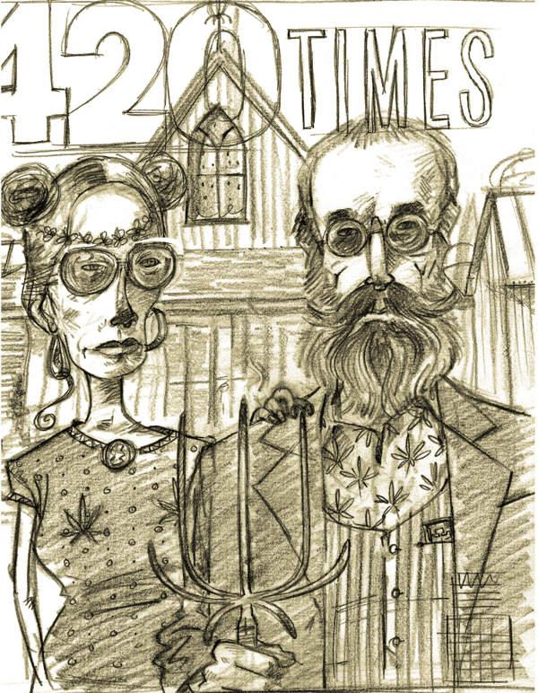 Американская готика от иллюстратора Стива Симпсона (Steve Simpson) 4