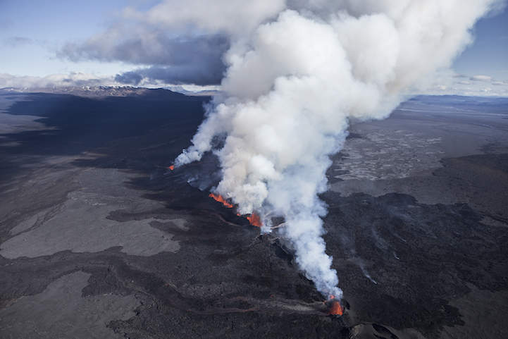 Извержение вулкана Баурдарбунга от Iurie Belegurschi