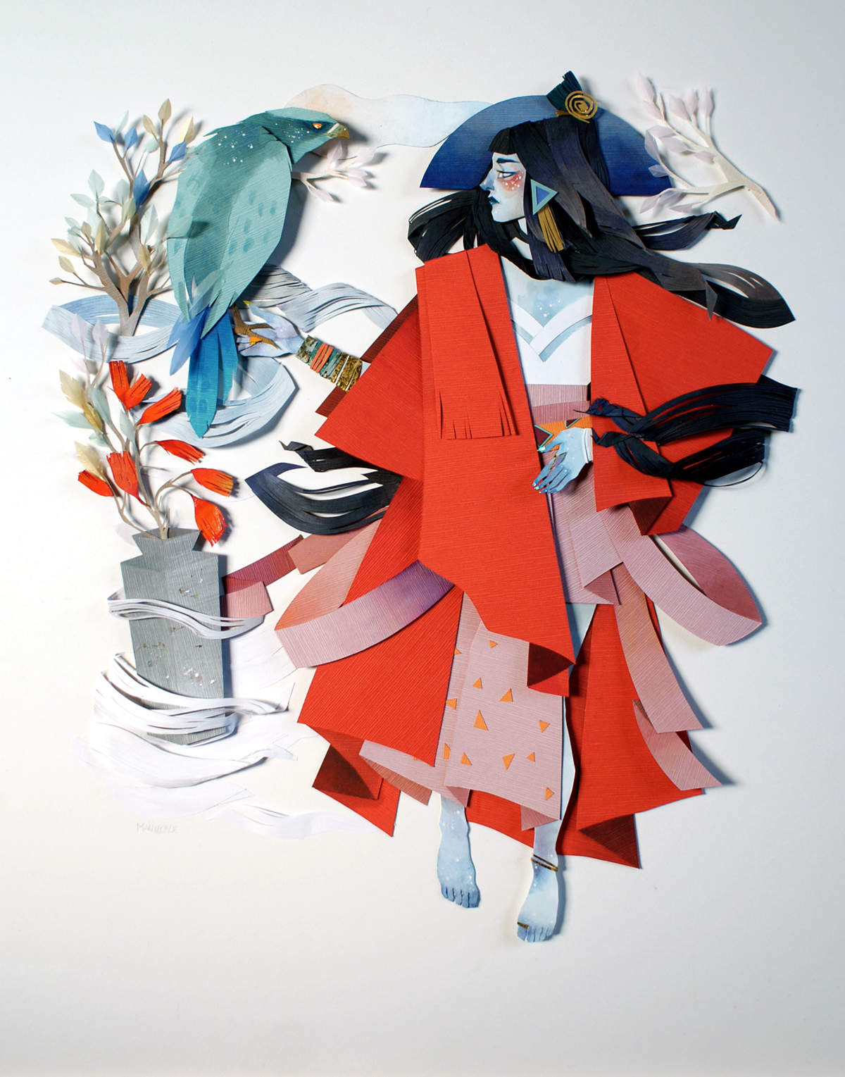 Иллюстрации из бумаги Морганы Уоллес (Morgana Wallace)