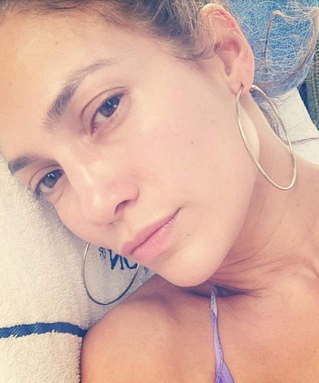 selfie селфи джениффер лопез без макияжа