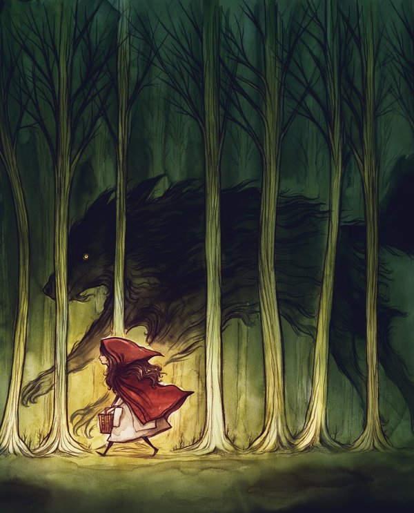 иллюстрация Красная шапочка 13
