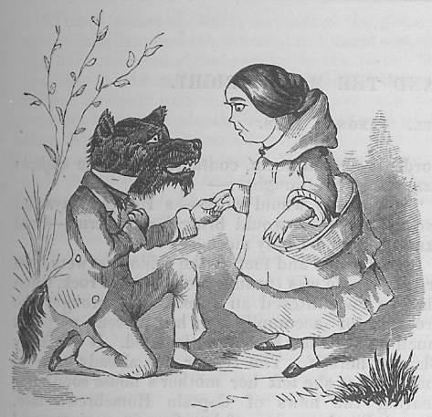иллюстрация Красная шапочка 1857 год