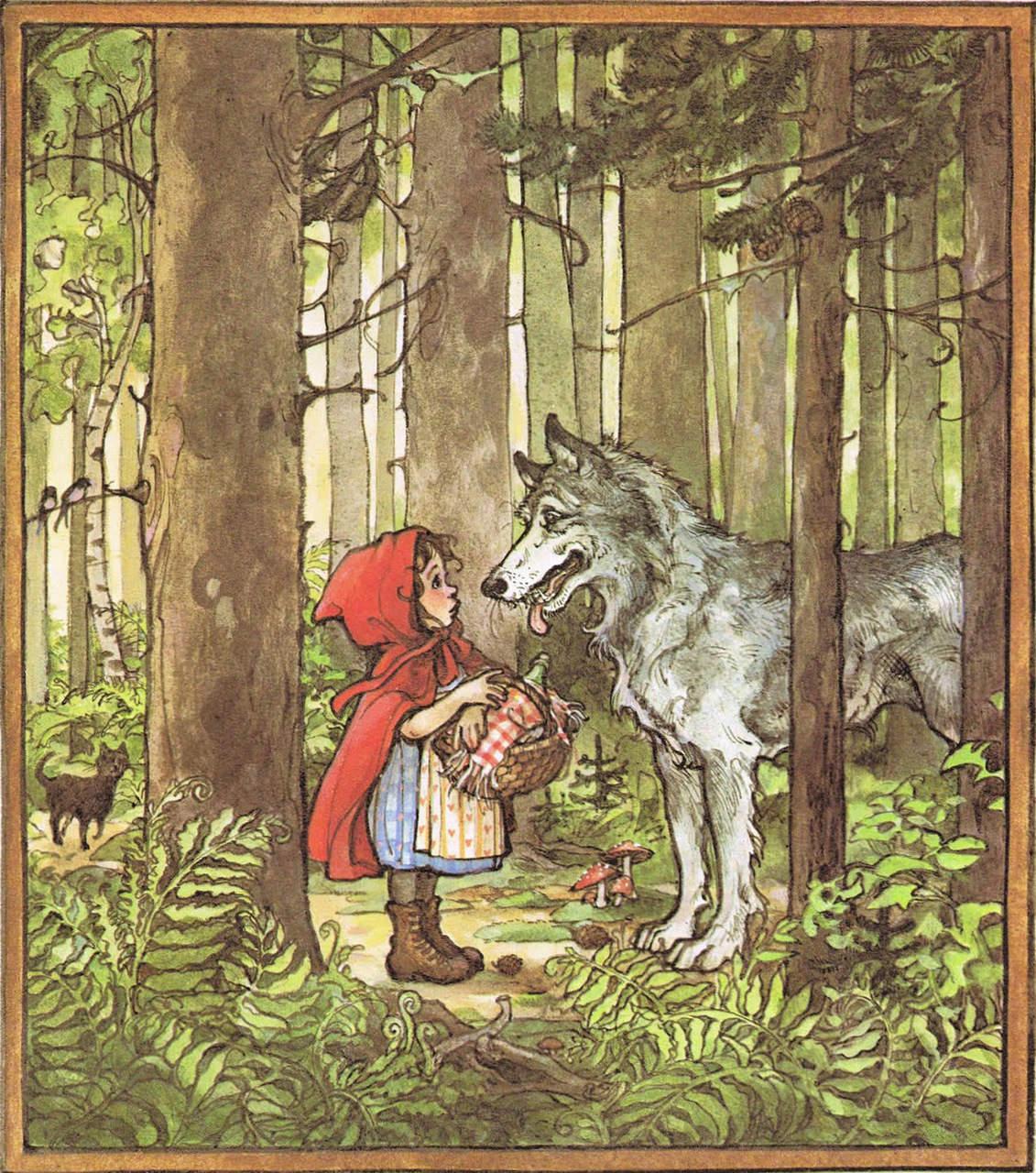 иллюстрация Красная шапочка 8