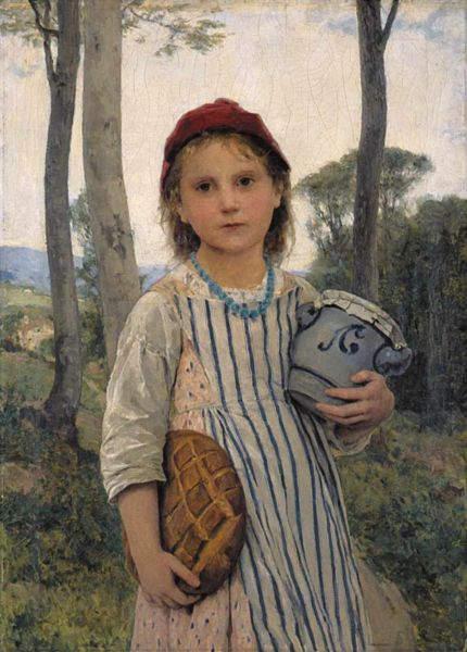 иллюстрация Красная шапочка Альберта Анкера (Albert Samuel Anker ), 1883 год