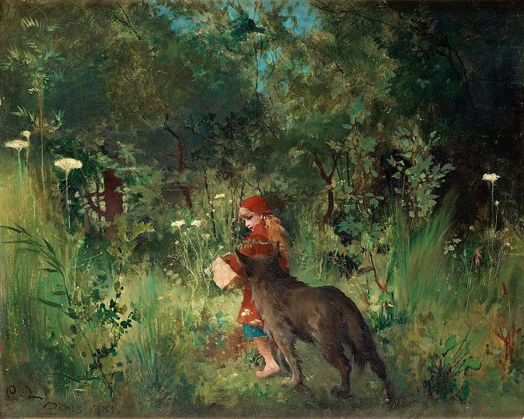 иллюстрация Красная шапочка Карла Ларссона (Carl Larsson ), 1881 год