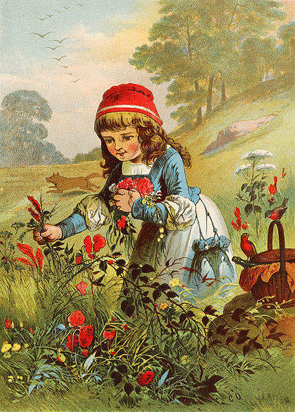 иллюстрация Красная шапочка Карла Оффтендингера (Carl Offterdinger), 1890-е годы