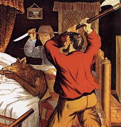 иллюстрация Красная шапочка Томлинсона (Tomlinson), 1880 год