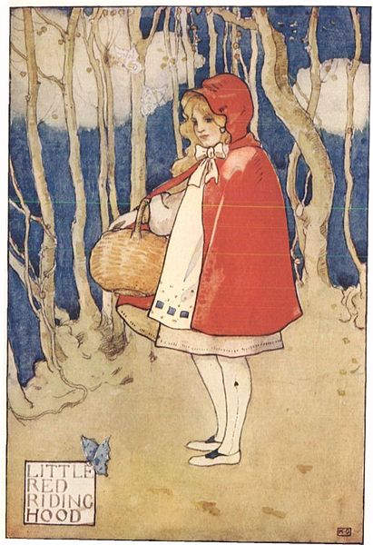 иллюстрация Красная шапочка