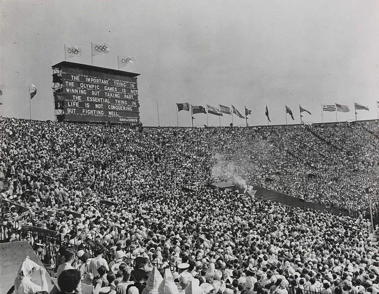 Фотография торжественного открытия Лондонской Олимпиады, 1948 год