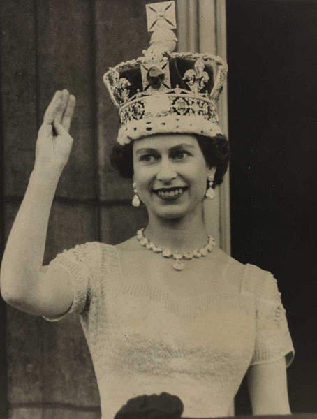 История в фотографиях (1950-1953) Фотография коронации Елизаветы ІІ, 1953 год