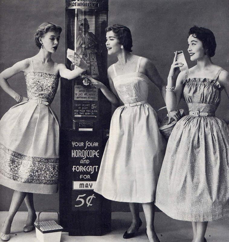 История в фотографиях (1950-1953) Фотография моды 1950-х годов