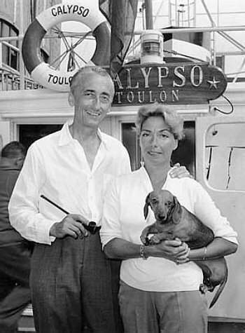 История в фотографиях Фотография Жака Ива Кусто, с супругой, 1943 год