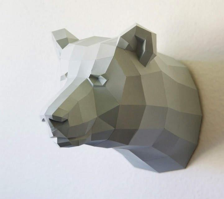 3D-модели животных от дизайнера - Бумажного волка