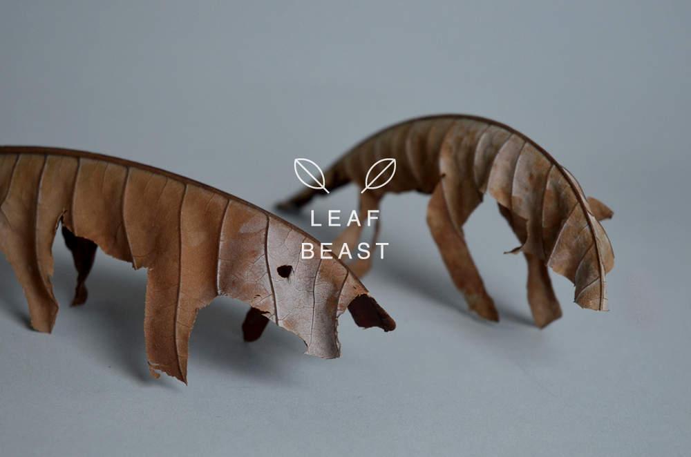 Композиции из осенних листьев от Baku Maeda