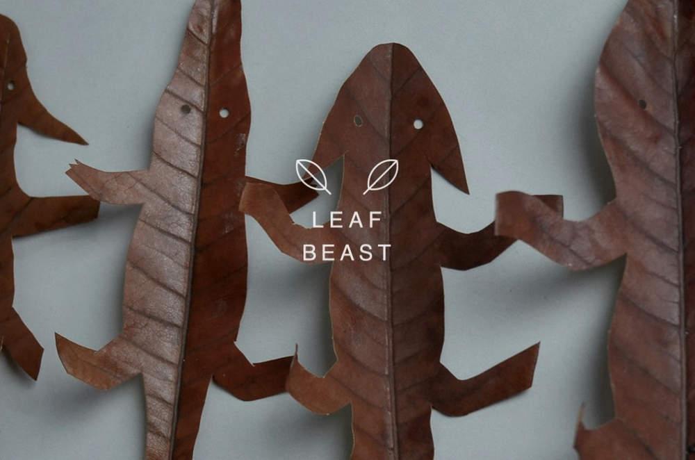 Креативные композиции из осенних листьев в виде животных