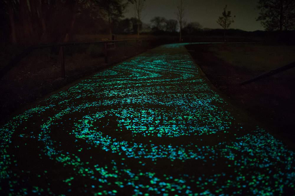 Светящаяся велосипедная дорожка в Нидерландах