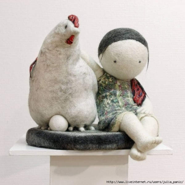 Ирина Андреева и её необычные куклы из войлока 11