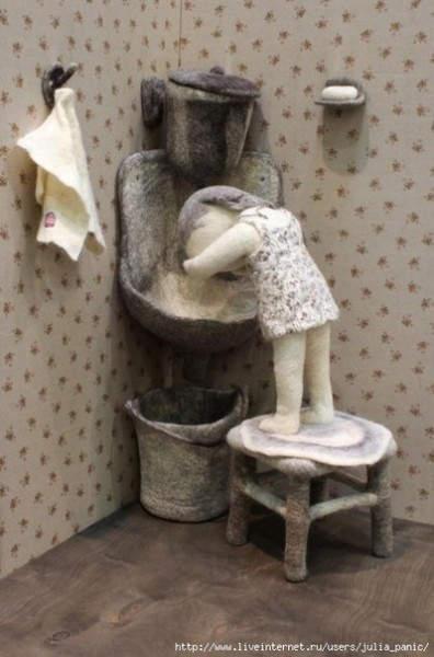 Ирина Андреева и её необычные куклы из войлока 12