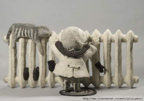 Ирина Андреева и её необычные куклы из войлока 13