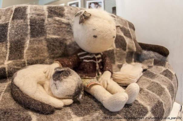Ирина Андреева и её необычные куклы из войлока 16