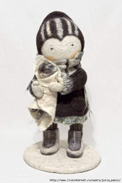 Ирина Андреева и её необычные куклы из войлока 8