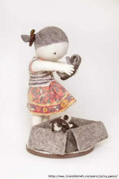 Ирина Андреева и её необычные куклы из войлока 9