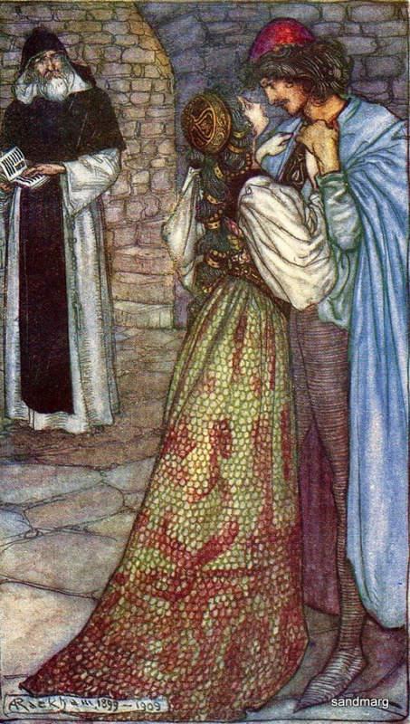 «Ромео и Джульетта», Артур Рэкхем (Arthur Rackham) 1909 год