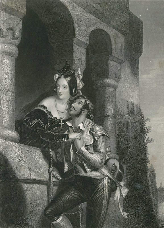 «Ромео и Джульетта», Эдвард Корбоулд (Edward Henry Corbould) 1854 год