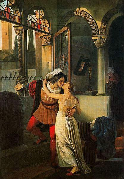 «Ромео и Джульетта», Франческо Айец (Francesco Hayez) 1823 год