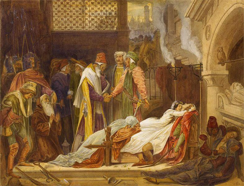 «Ромео и Джульетта», Фредерик Лейтон (Frederic Leighton), 1854 год
