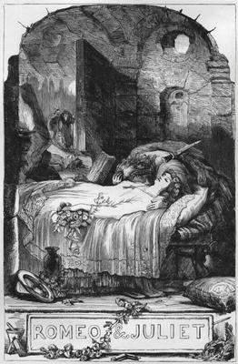 «Ромео и Джульетта», Генри Селус (Henry Courtney Selous) 1830 год