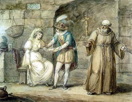 «Ромео и Джульетта», Генри Уильям Банбери (Henry William Bunbury), 1792 год