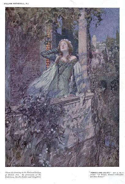 «Ромео и Джульетта», Уильям Хатерелл (William Hatherell) 1912 год