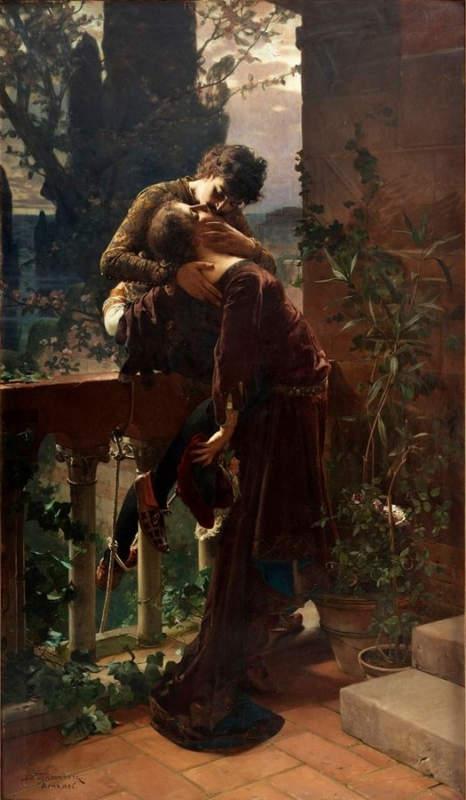 «Ромео и Джульетта», Юлий Кронберг (Julius Kronberg) 1885 год