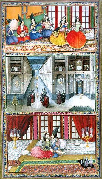 «Тысяча и одна ночь», иллюстрации Абуль Хасана Гаффари Кашани, известного так же как Сани Оль Мольк 1853 года