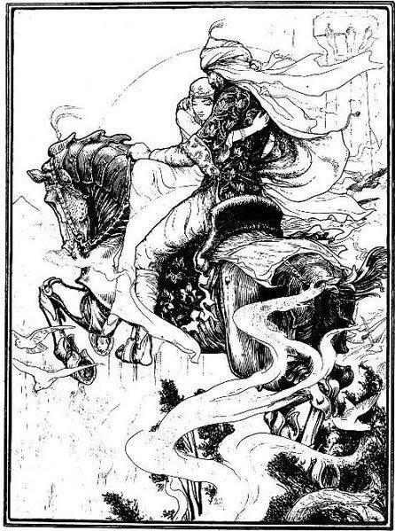 «Тысяча и одна ночь», иллюстрации Джона Батона (John Dickson Batten) 1895 года