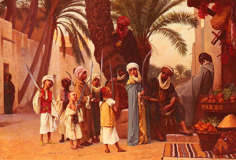 «Тысяча и одна ночь», иллюстрации Гюстава Кларена Родольфа Буланже 1873 года