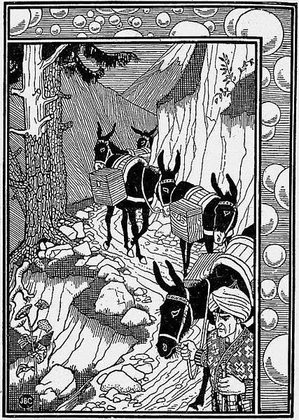 «Тысяча и одна ночь», иллюстрации Жозефа Кларка (Joseph Benwell Clark) 1896 года