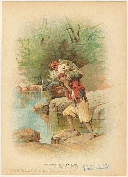«Тысяча и одна ночь», иллюстрация Frances Isabelle Brundage 1898 года