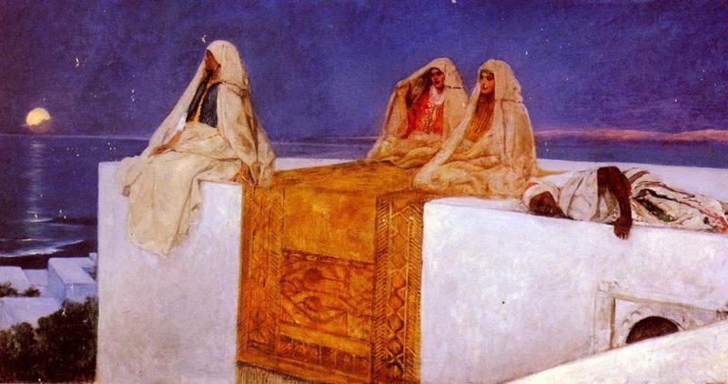 «Тысяча и одна ночь», иллюстрация Жан-Жозеф Бенжамен-Констана, 1880 год