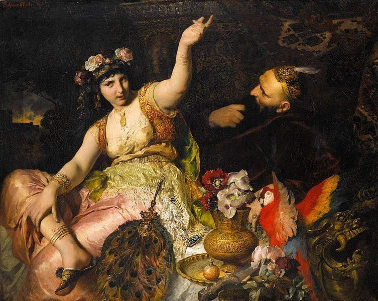 «Тысяча и одна ночь», художник Фердинанд Келлер (Ferdinand Keller), 1880 год
