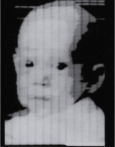 История в фотографиях (1954 - 1957) Фотография сына Рассела Киршема (Russell A. Kirsch), 1957 год