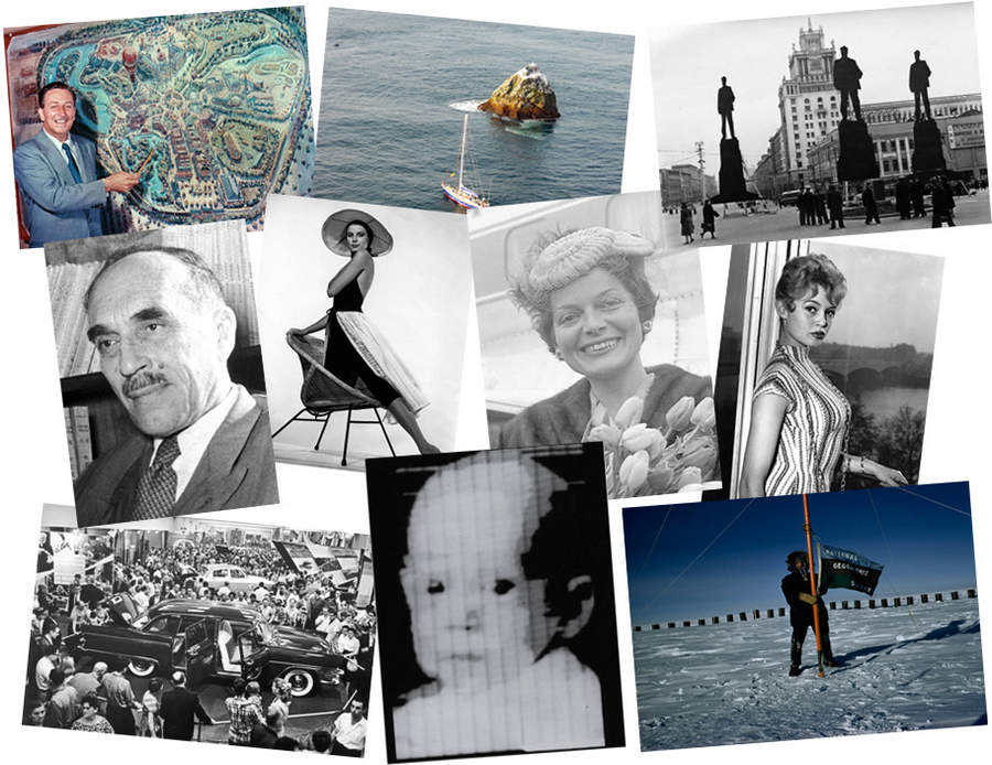 История в фотографиях (1954 — 1957)