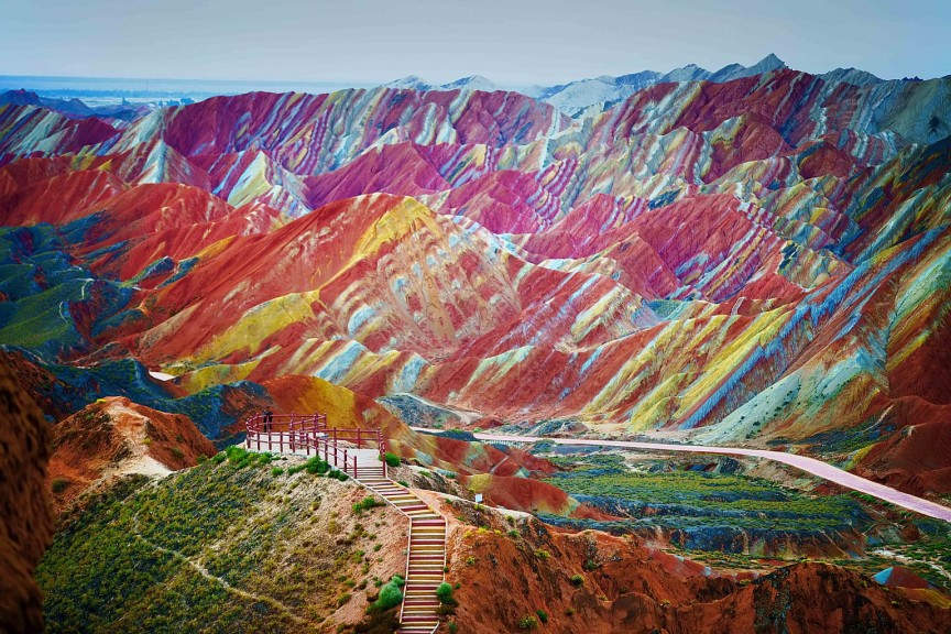 10 самых фантастических мест на Земле Национальный геопарк Чжанъе Данься - Китай