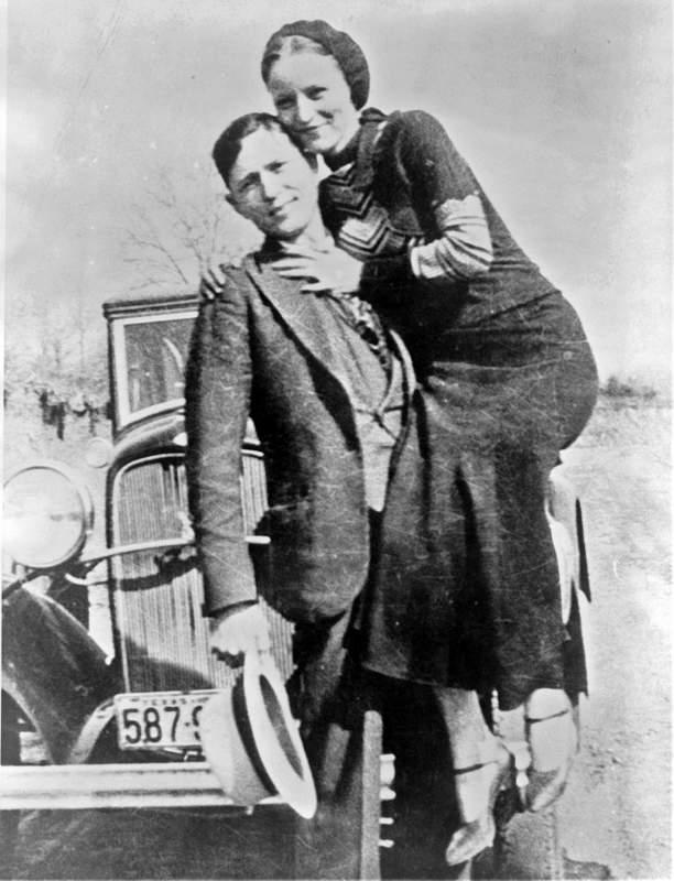 Самые известные криминальные дуэты Топ-10 Бонни и Клайд (Bonnie and Clyde)